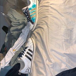 Custom adidas shoes US men's size 9